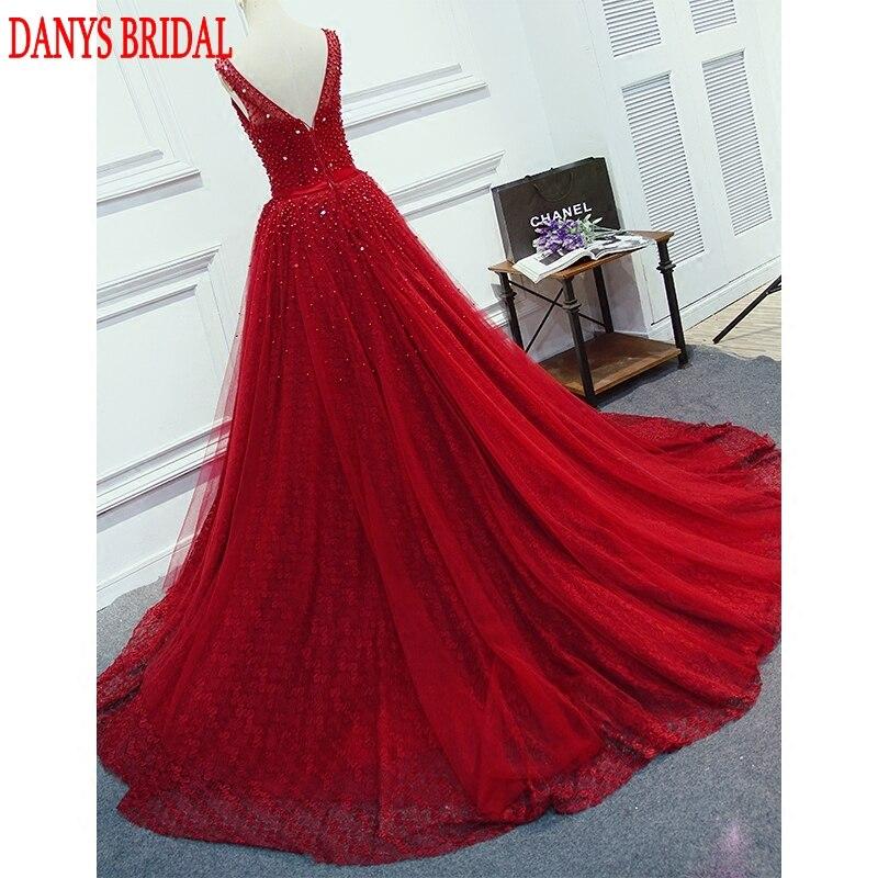 Crvena ili zelena Duga večernja haljina Party Beaded biseri Luksuzni - Haljina za posebne prigode - Foto 5