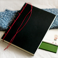 Red Vintage Big Tsmip Stationery Customize Sketch Book Handmade Thick Notebook