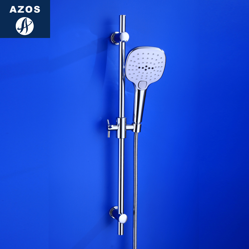 Azos Shower Rod Brass Chrome Rise And Fall Single Function Rotatable Bracket Bathing Shower Room Round HSSJ018AAzos Shower Rod Brass Chrome Rise And Fall Single Function Rotatable Bracket Bathing Shower Room Round HSSJ018A