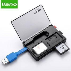 Image 1 - llano Card Reader Mini USB 2.0 SD Micro SD TF OTG Smart Card Reader for Memory Cards Reader USB SD Adapter