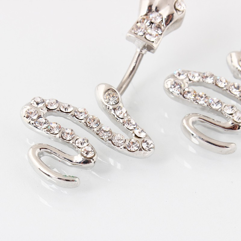 HTB1_CEnMXXXXXbwXpXXq6xXFXXXD Sterling Silver Belly Button Crystal Encrusted Serpent Ring For Women