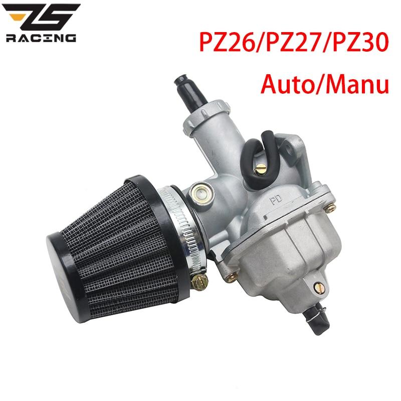 ZS Racing PZ26 PZ27 PZ30 Carb Auto Manu carburateur + filtre à Air pour  50cc-250CC Dirt Pit bike ATV Quad Go kart SUNL TAOTAO