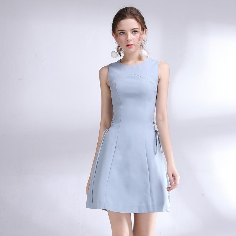 Boutique dames d'été 2019 plissée épissage gilet est pur et frais et doux cultiver sa moralité robe est 68036