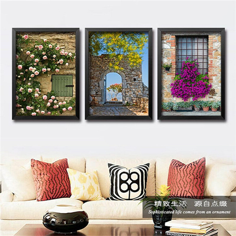 European style spring summer autumn winter scenery flowers home decor living room wall painting - European inspired home decor photos ...