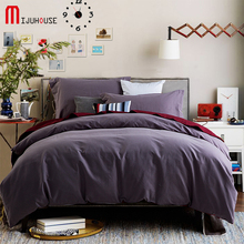 100% Cotton Solid Pure Color Designer Sanding Bedding Sets Queen King Size Bed Bedclothes Duvet Cover 4Pcs Sheet Set Pillowcases