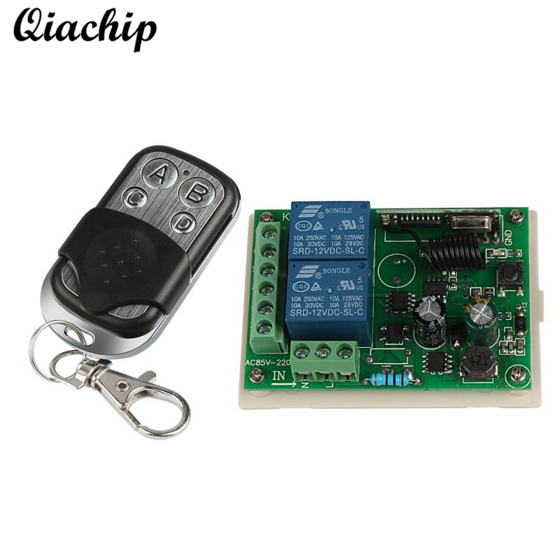 Universal Wireless 433Mhz Remote Control Switch AC 85V ~ 250V 110V 220V 2CH Relay Receiver Module and RF 433 Mhz Remote Controls dc24v remote control switch system1receiver