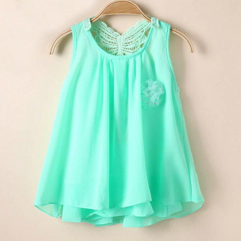 Kids Clothing Summer Kids Princess Layered One-Piece Baby Girls Sleeveless Flower Loose Dress