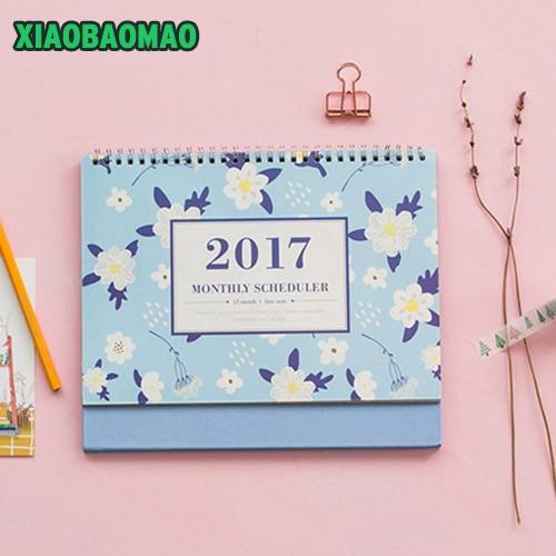 Calendar Planner Cover : Desktop calendar cute girls cartoon flower covers