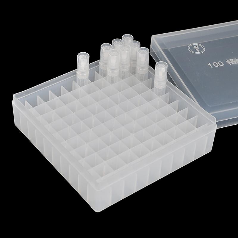 54*142*142mm Plastic Box Portable Perfume Bottle Display & Easily Formulated Perfume Side Length15mm