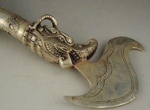 Image 4 - Старый Тибет Тибетский серебряный буддийский эксорцим Дхарма сосуд
