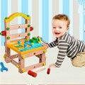 Nueva Llegada de juguete Desmontable silla Luban desmontaje herramienta de tuerca de combinaciones de los niños reunidos juguetes educativos de Construcción niño