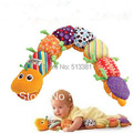 Popular Green Feet Musical Inchworm Toy Educational Musical caterpillar with height ruler plush toys LM-01