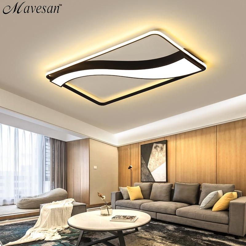 Bedroom Lights Ceiling Led White Or Black Frame For Home