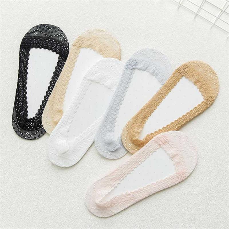 2018 חדש אופנה נשים כותנה תחרה מערכות לinvisible אוניית נמוך Cut גרבי נעלי בית גרב popsocket calcetines meias