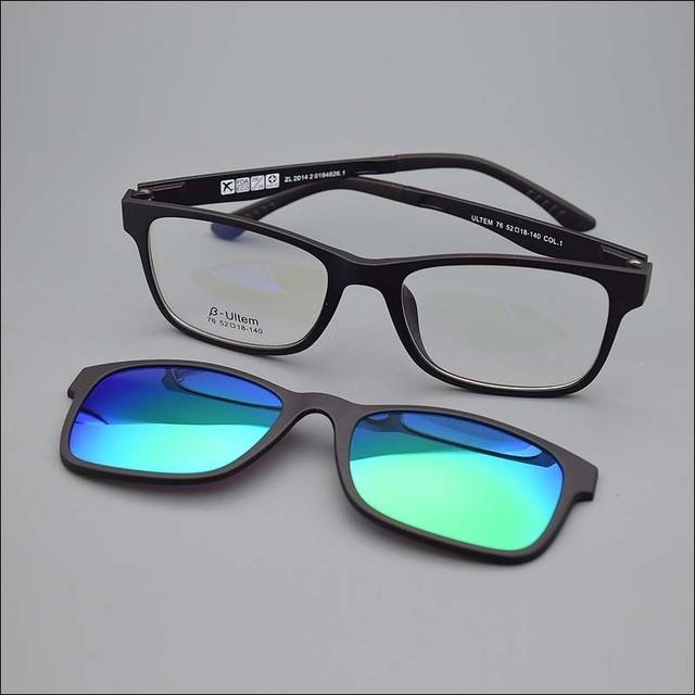 d455ce05d0 Top quality Ultra-light Ultem titanium glasses frame belt magnet optical  frame glasses with clip