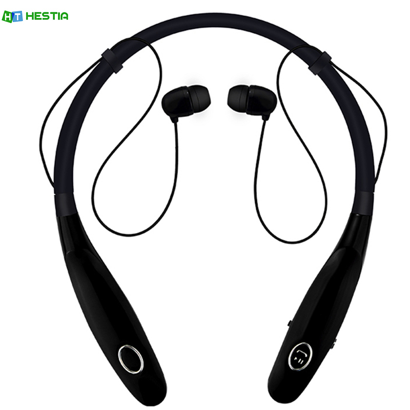 HESTIA HBS900S Bluetooth Headset Neckband Handsfree Sports Bluetooth Headphone with Mic Bass Earphone for iPhone & Android Phone