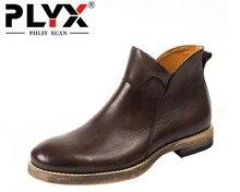 Бренд phliy Сюань ретро британский стиль Мужские Ботинки Натуральная кожа ручной работы ковбойские ботинки офицеров зимние сапоги для мужчин мужские сапоги