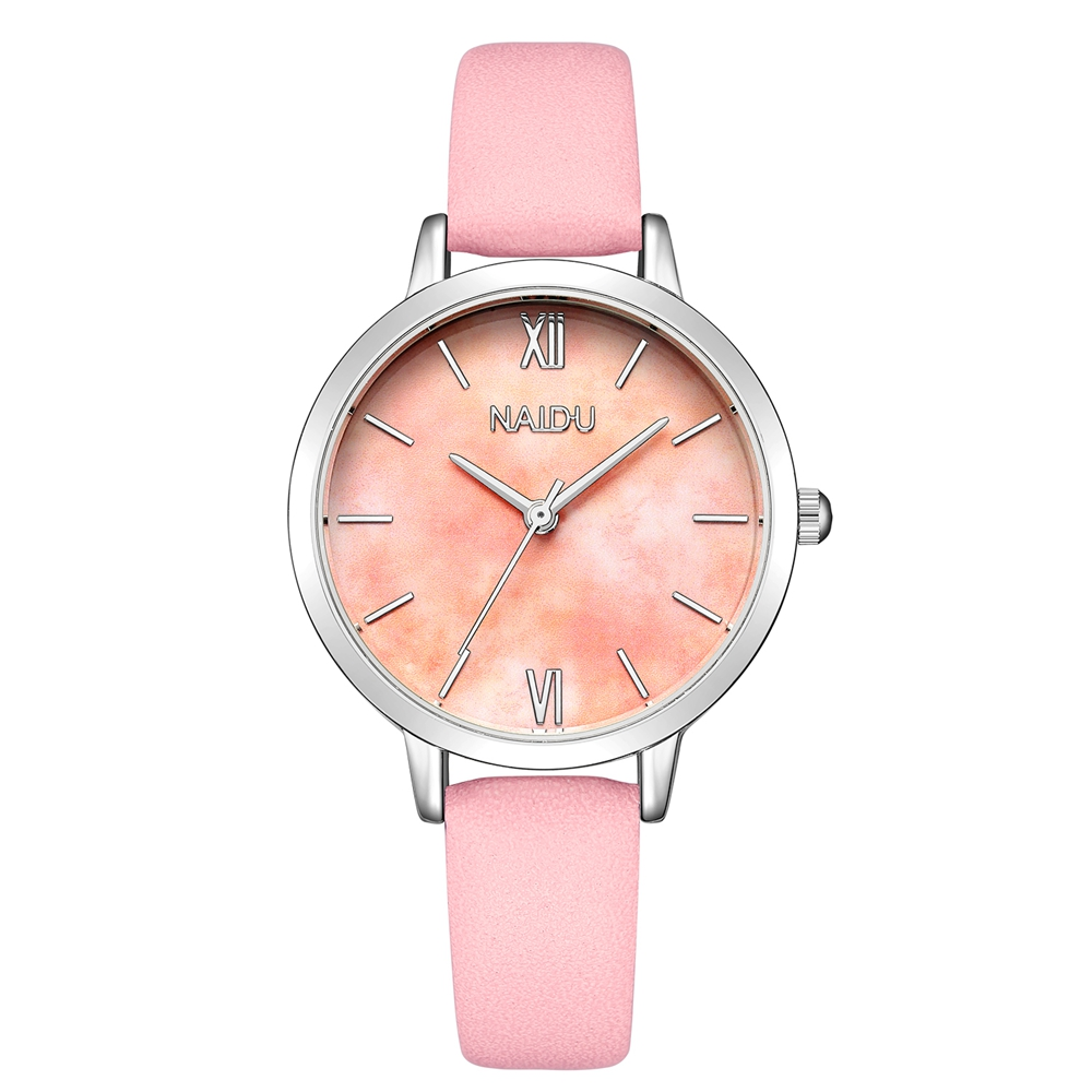 Cute Pink Watch for Women Creative Marble Dial Ladies Leather Quartz Wrist Watches Women High Quality White and Black Wristwatch стоимость