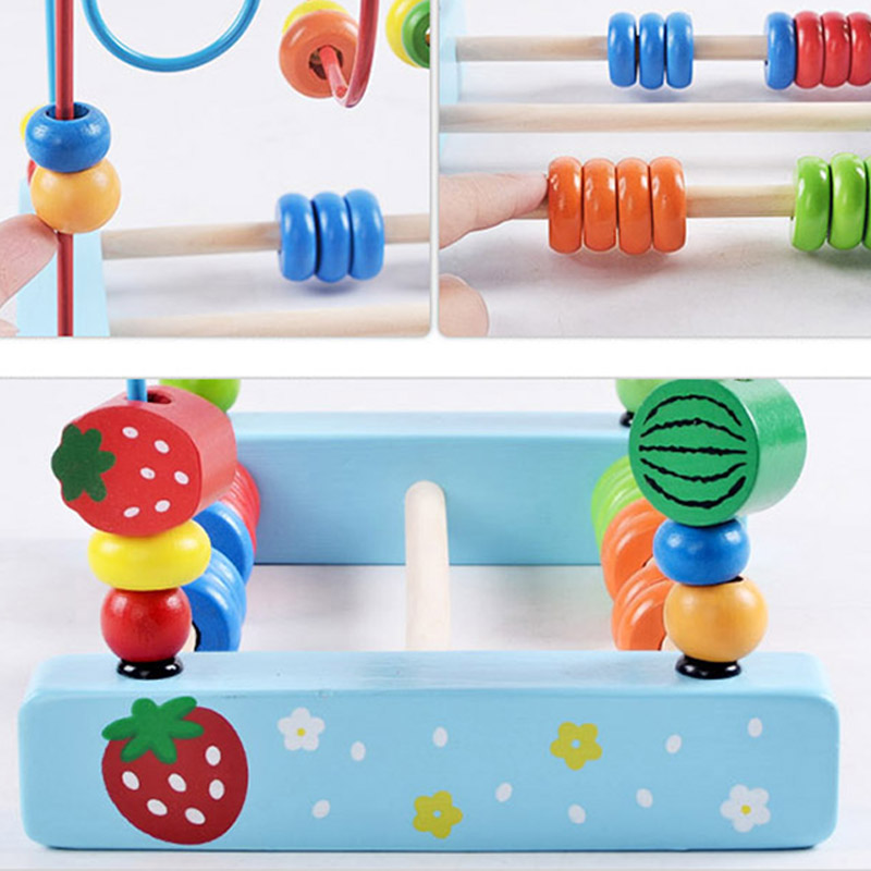 Baby Early Educational Wooden Toy Cartoon Animal Fruits Vegetables ...