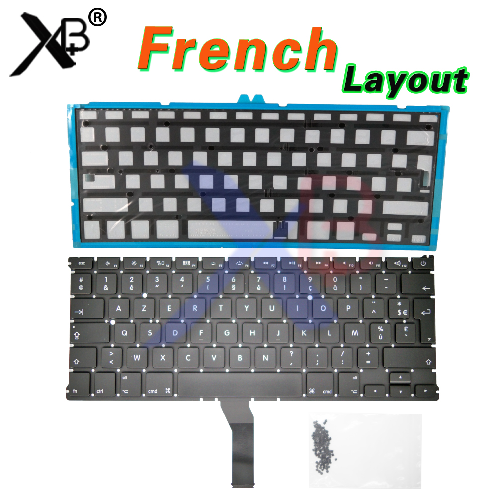 For A1369 A1466 AZERTY FR French keyboard/Backlight Backlit+100pcs keyboard screws For MacBook Air 13.3 A1369 A1466 For A1369 A1466 AZERTY FR French keyboard/Backlight Backlit+100pcs keyboard screws For MacBook Air 13.3 A1369 A1466