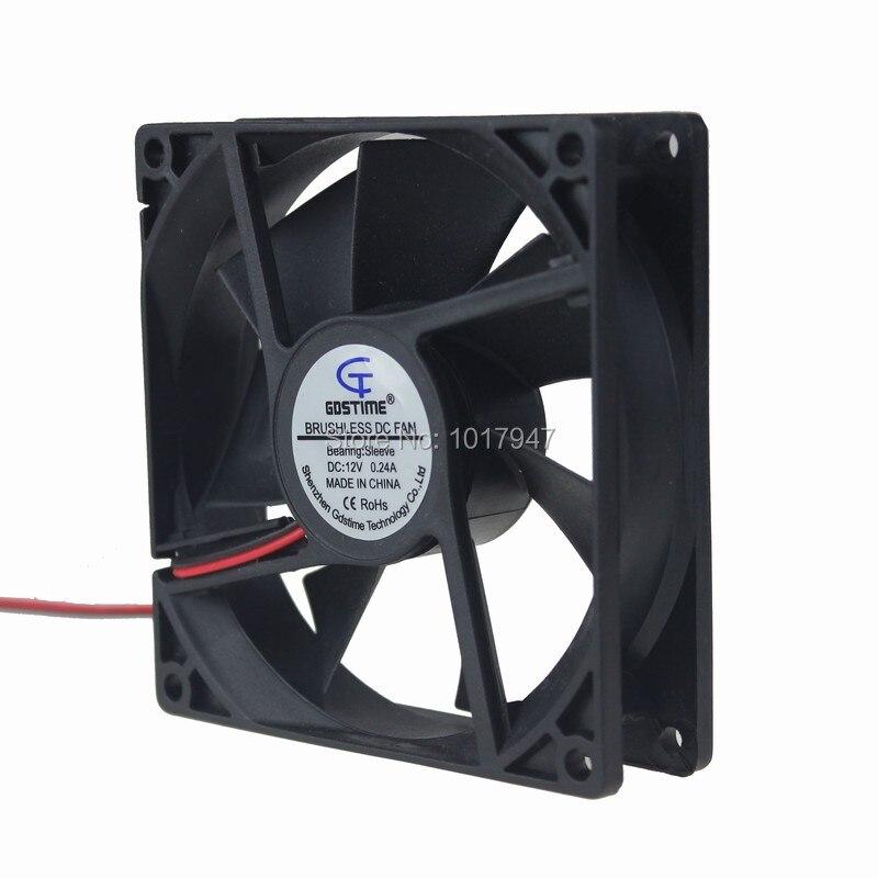5Pieces LOT Gdstime DC 12V 2Pin 9225 92mm 92x25mm Ventilation Cooling Cooler Fan
