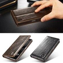 Роскошный телефон чехлы для Sony Xperia Z5/Z5 compact/Z5 Премиум оригинальный бренд натуральная кожа магнит авто флип бумажник Чехол
