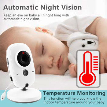 VB603 Wireless Video Color Baby Monitor with 3.2Inches LCD 2 Way Audio Talk Night Vision Surveillance Security Camera Babysitter 3