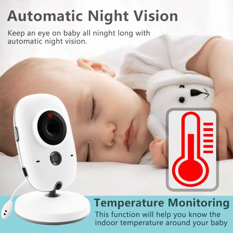 VB603 Monitor de bebé de Color de vídeo inalámbrico con LCD de 3,2 pulgadas de 2 vías Audio hablar visión nocturna vigilancia cámara de seguridad niñera - 4
