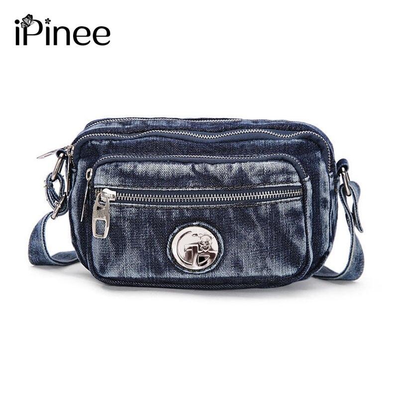 iPinee Fashion Denim Bag Womens Shoulder Bags Summer Jeans Lady Satchels Women Crossbody Bags