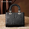 Foxtail & Lily 2017 Crocodile Pattern Women Bag Genuine Leather Luxury Handbags Famous Designer Ladies Shoulder Messenger Bags
