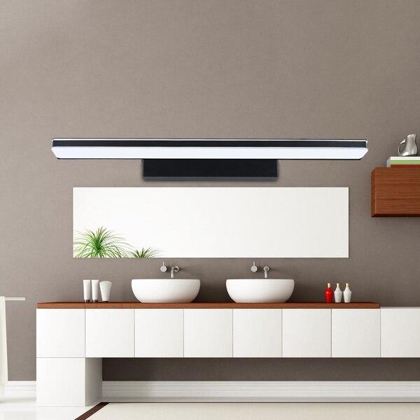 ФОТО Led mirror light waterproof anti-fog lamp brief modern bathroom mirror glass light fashion cosmetic wall lamp