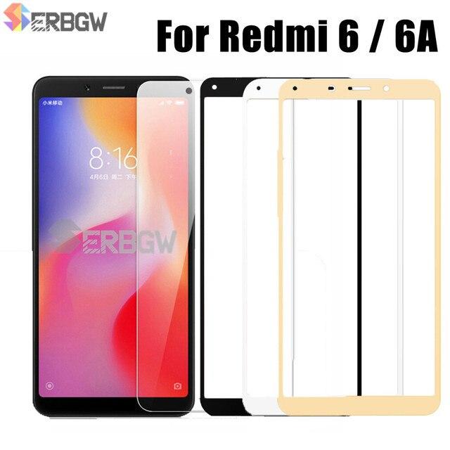 5.45 inch Kính Cường Lực Cho Xiaomi Redmi 6 6A Tấm Bảo Vệ Màn Hình 2.5D 9 H Kính Cường Lực Cho Xiaomi Redmi6 MỘT Kính redmi6A Màng bảo vệ