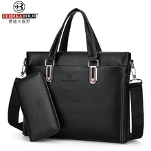 FEIDIKA BOLO fashion 2017 new business men bag laptop handbag briefcase horizontal bag shoulder bag men messenger bag