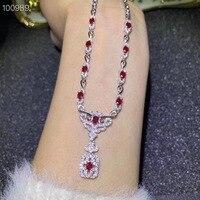 Подвеска с рубином происхождения и натуральный настоящий Рубин стерлингового серебра 925 для мужчин или женщин ювелирные изделия