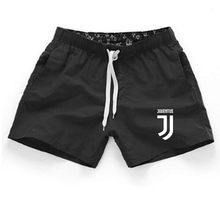 Shorts Mens Bermuda 2018 Summer Beach Men shorts Juventus Letter print Male Brand Men'S Short Casual Fitness Jogger 9 color XXXL(China)