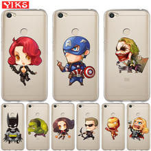 Cute Batman Joker Case For Xiaomi Redmi 3S 4X Mi 6 A1 5X Note 3 4 5A 5 Plus Pro Prime Cover Soft Silicone Coque Capinha