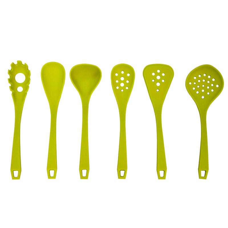 12 pollice 6 pz silicone utensile da cucina set per cucinare pentole utensili mestoli di pasta