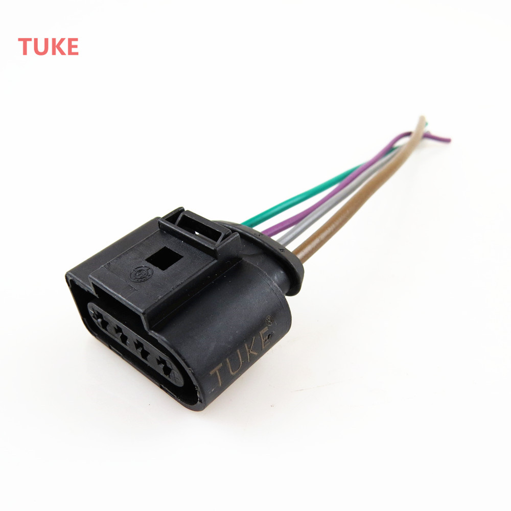 TUKE Qty4 Engine Ignition Coil Plug Connect Wiring Harness For VW Beetle  Eos Jetta Passat Rabbit Touareg 1J0973724 1J0 973 724-in Ignition Coil from  ...