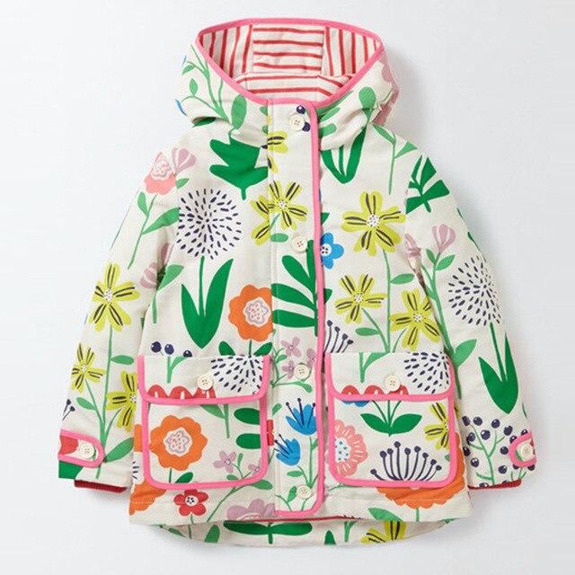 414511786 Hot New 2017 Baby Girls Autumn Windbreaker Casual Flower Coats Kids ...