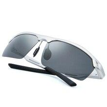 Silver gray TAC hardened thickening Classic Polarized Sunglasses Men Women Driving Square Frame Sun Glasses Male UV400 3009-2