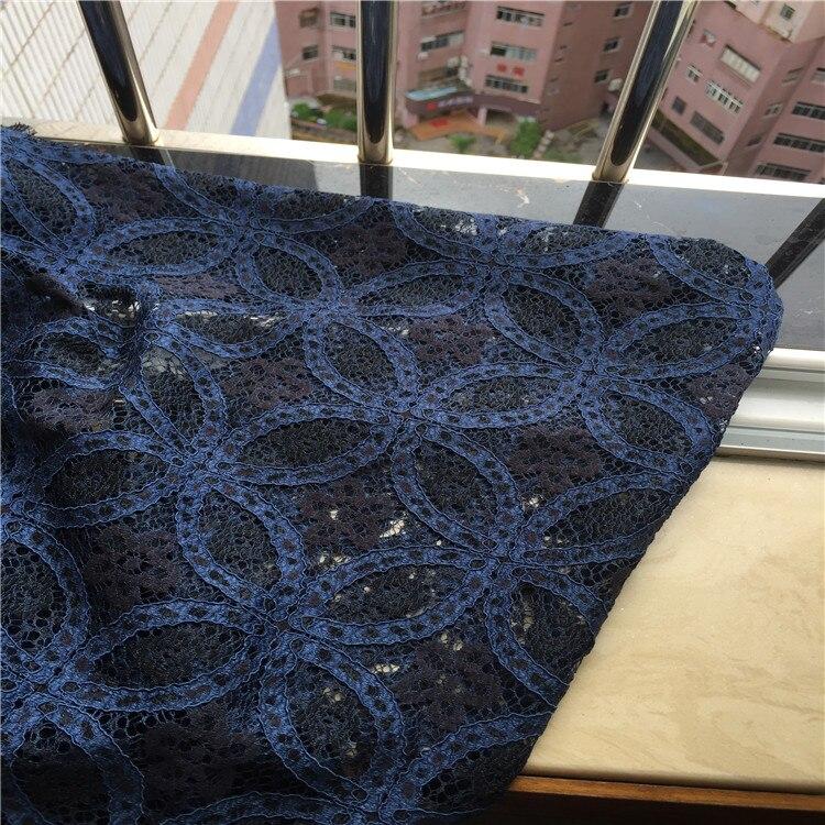1 mètre/lot nouveau chantilly catwalk coton mélangé cordon pas cher dentelle tissu robe tissu gris bleu
