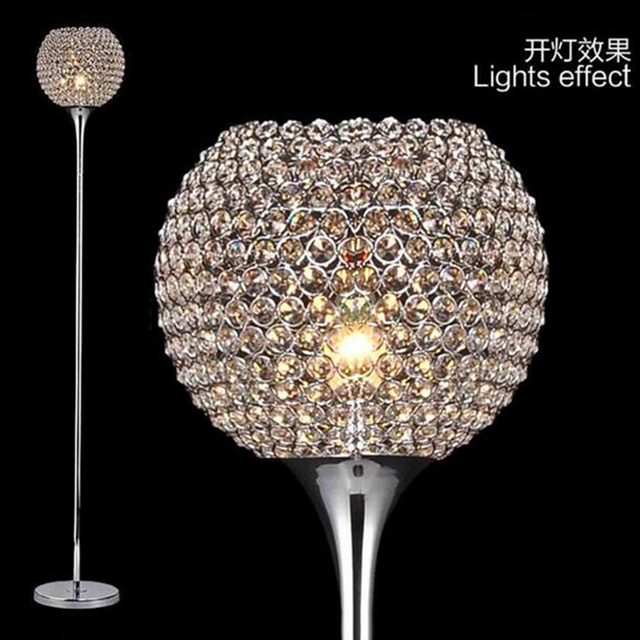 Aliexpress.com : Buy Brief Modern K9 Crystal Floor Lamp E27 Living ...