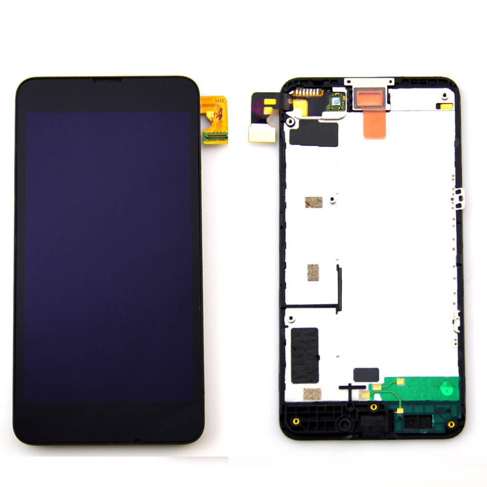A+ Quality Front Glass Digitizer Touch + LCD Display Screen + Frame Assembly For Nokia Lumia 635 630 free shipping