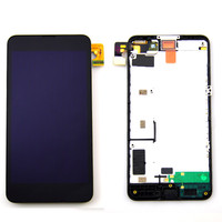 A Quality Front Glass Digitizer Touch LCD Display Screen Frame Assembly For Nokia Lumia 635 630