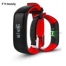 F H BELLEZA P1 Pulsera Inteligente Bluetooth Heart Rate Monitor de Presión Arterial IP67 Waterpoof Inteligente Band Pulsera Para iOS Android