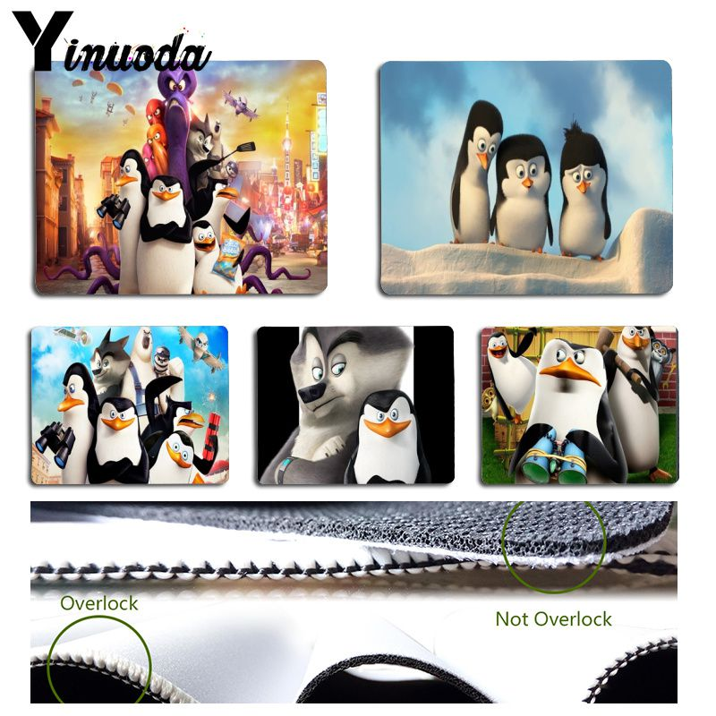 Yinuoda 2018 New penguin penguins of madagascar Pad to Mouse Game Size for  180x220x2mm and 250x290x2mm Small Mousepad-in Mouse Pads from Computer &