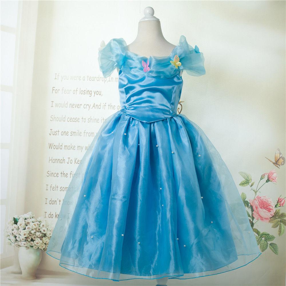 comprar caliente las muchachas de flor princesa cenicienta traje vestidos nios nio azul fiesta de cumpleaos para el da del nio de