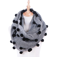 Comfortable Autumn Winter Women Wool Collar Neck Warmer Crochet Ring Scarf For Women