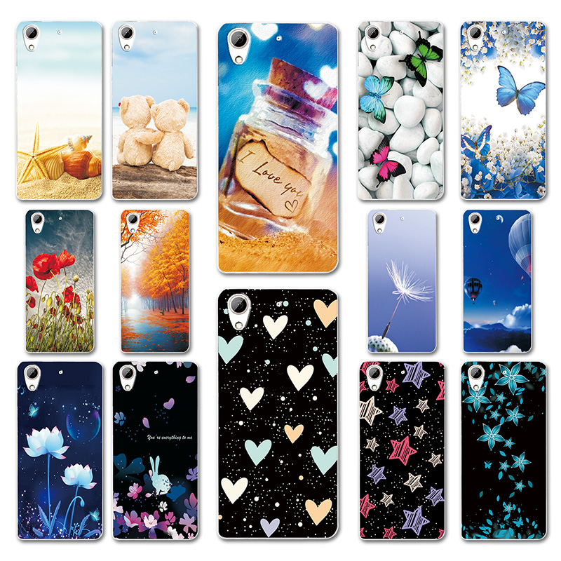 5.0 Case For HTC 626 628 626w 626G Desire 628 Case Heart Patterned Phone Back Cover For Fundas HTC 626 628 Capas Shell Bumper image