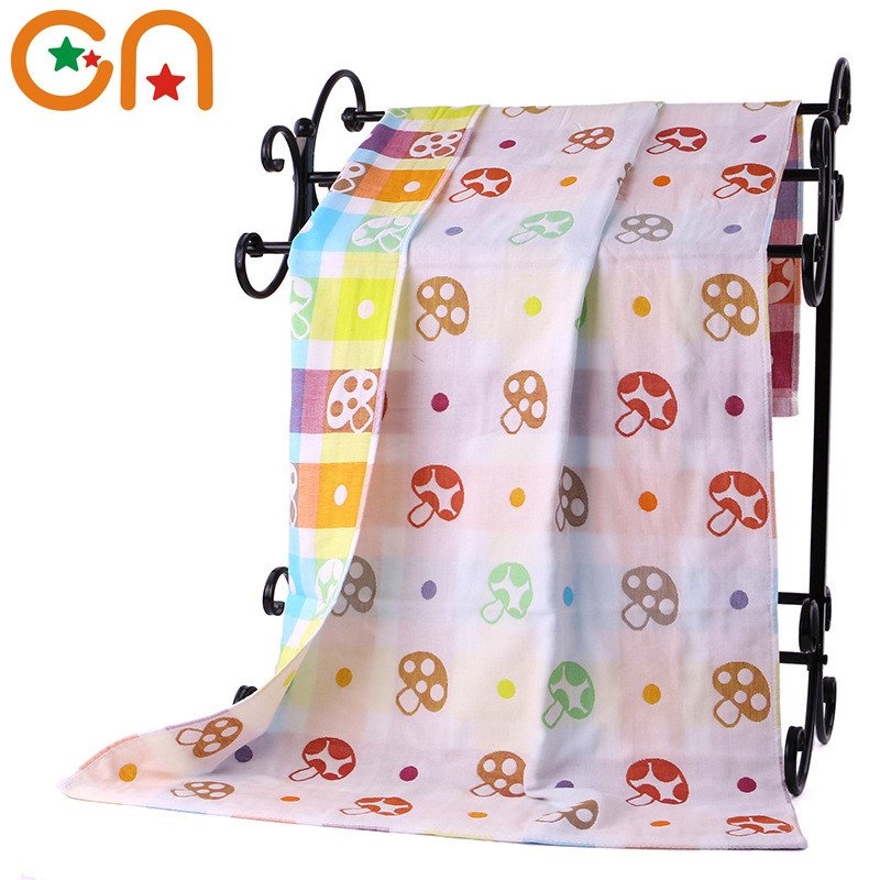 Summer Baby quilt washcloth High quality Adult Child Casual Three layers gauze Pure cotton Jacquard bath towel free shipping ...